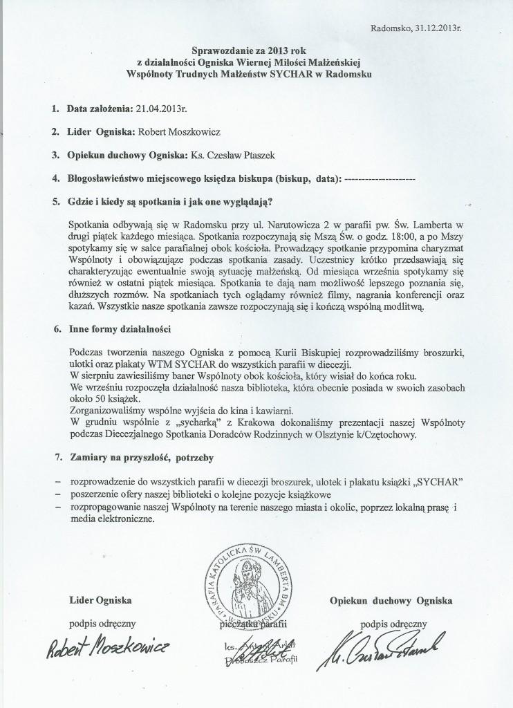 Sprawozdanie 2013