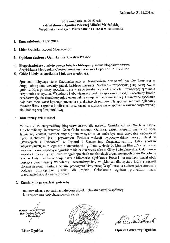 Sprawozdanie za 2015 Radomsko